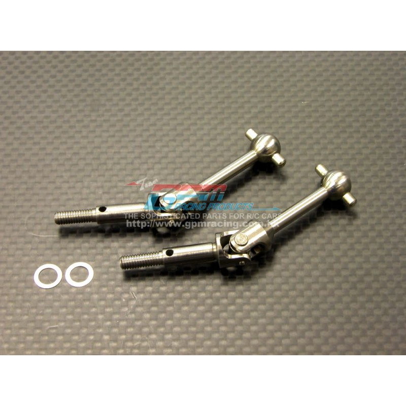 GPM Titanium Universal Shaft (33mm) for TT-01 (2 pcs)