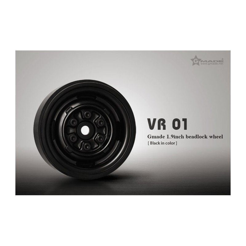 Gmade 1.9 VR01 Beadlock Wheels (Black, 2 pcs)
