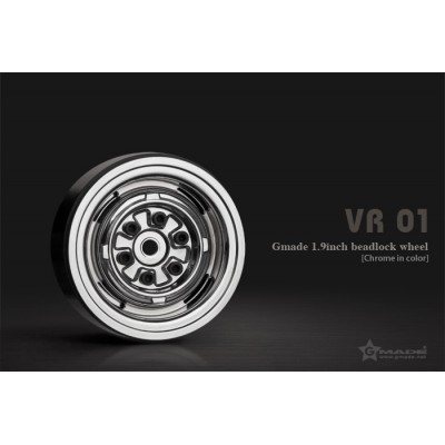 Gmade 1.9 VR01 Beadlock Wheels (Chrome, 2 pcs)