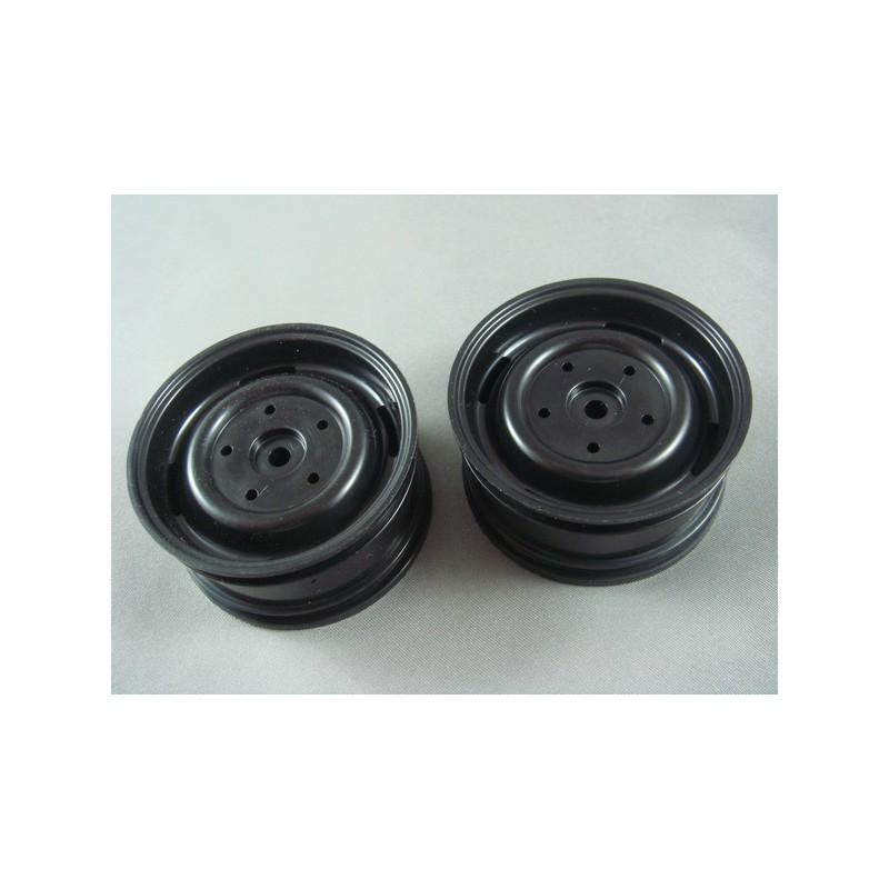 RC Channel 1.9 Truck Plastic Wheel Set (Black, 2 pcs) 26mm