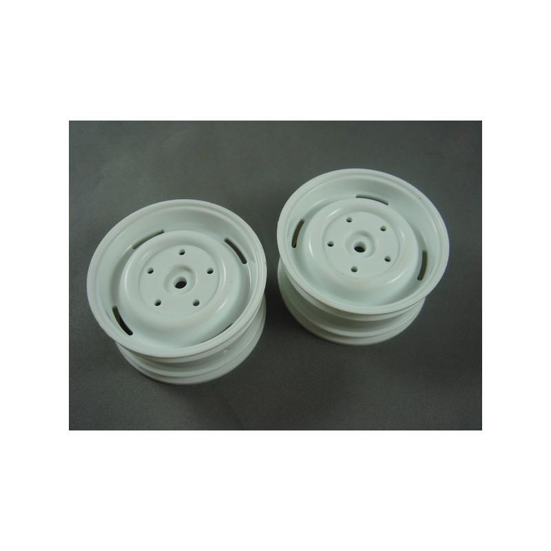 RC Channel 1.9 Truck Plastic Wheel Set (White, 2 pcs) 26mm