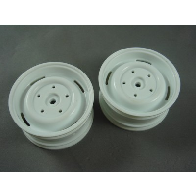 RC Channel 1.9 Truck Plastic Wheel Set (White, 2 pcs) 26mm