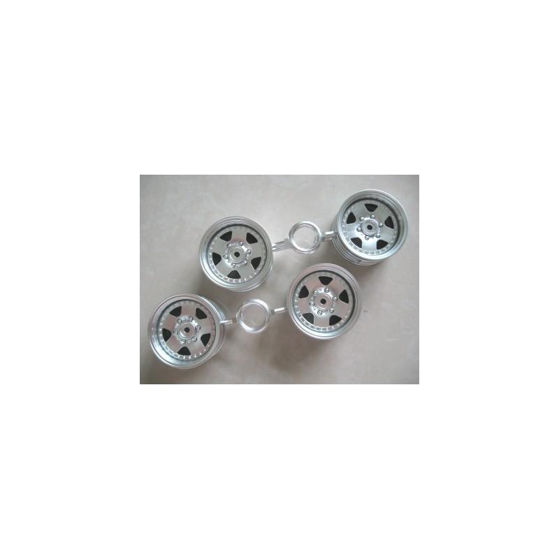 Tamiya Mitsubishi Pajero 5-Spoke Wheels (Chrome, 4 pcs) 26mm