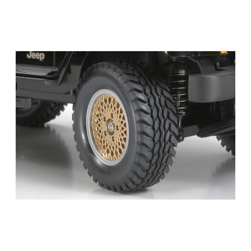 Tamiya Jeep Wrangler Wheels (Gold, 4 pcs) 26mm
