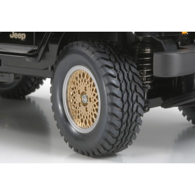 Tamiya Jeep Wrangler Wheels (Gold, 4 pcs) 26mm