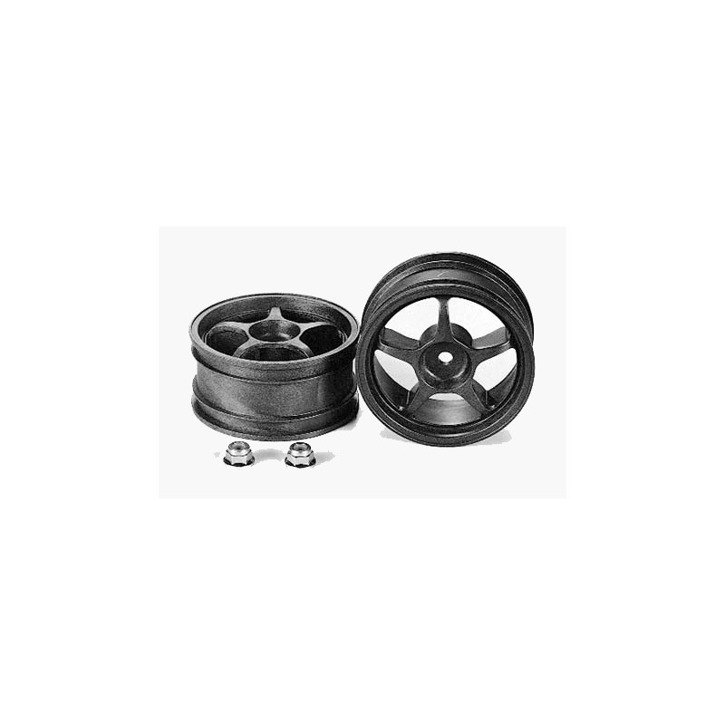 Tamiya Reinforced 5-Spoke Wheels (2 pcs) 26mm/+2