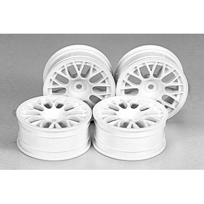 Tamiya Mesh Wheels (White, 4 pcs) 24mm/+2