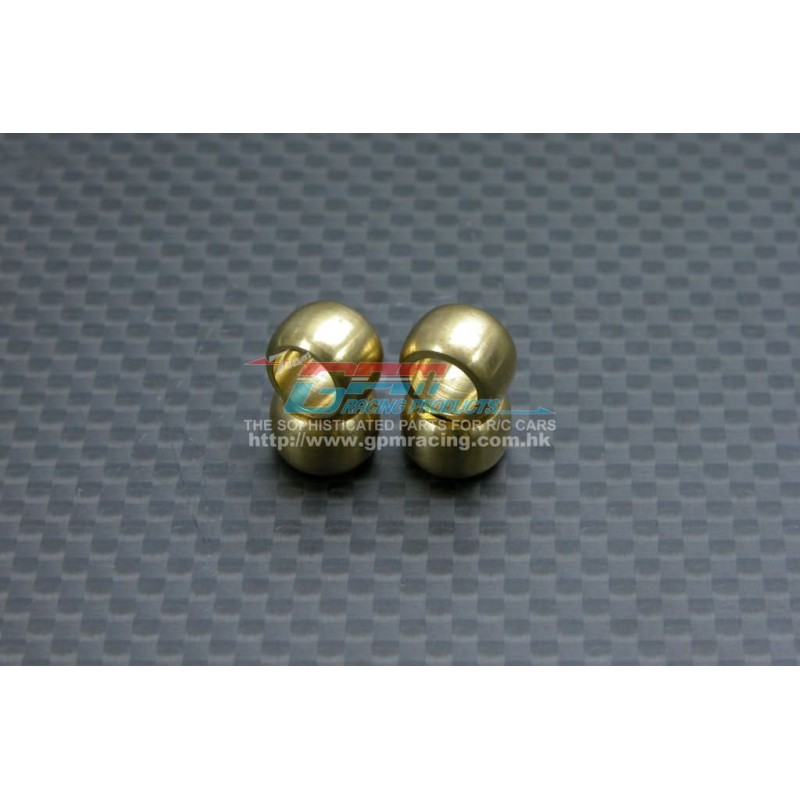 GPM Bronze 10mm Ball Set (for Front Sus. Arms) for TT-01