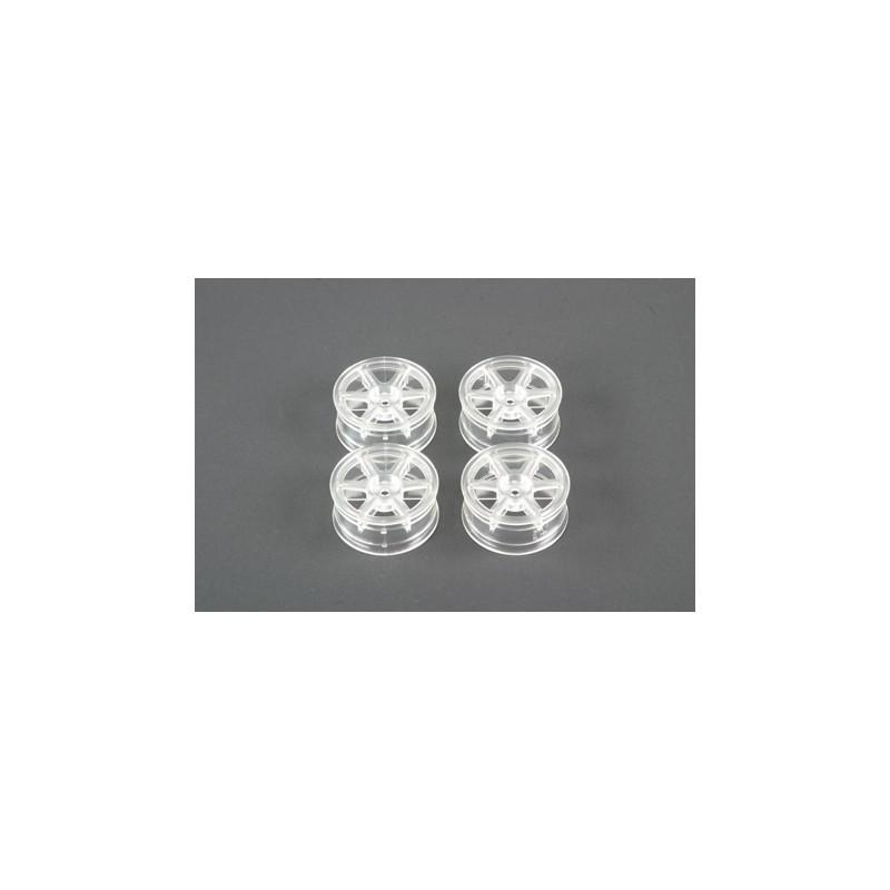 Tamiya 6-Spoke Wheels (Clear, 4 pcs) 24mm/+2 Limited Edition