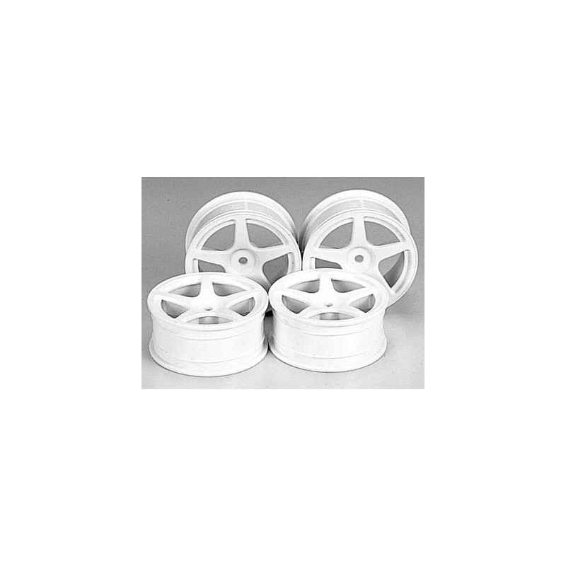 Tamiya 5-Spoke Wheels (White, 4pcs) 24mm