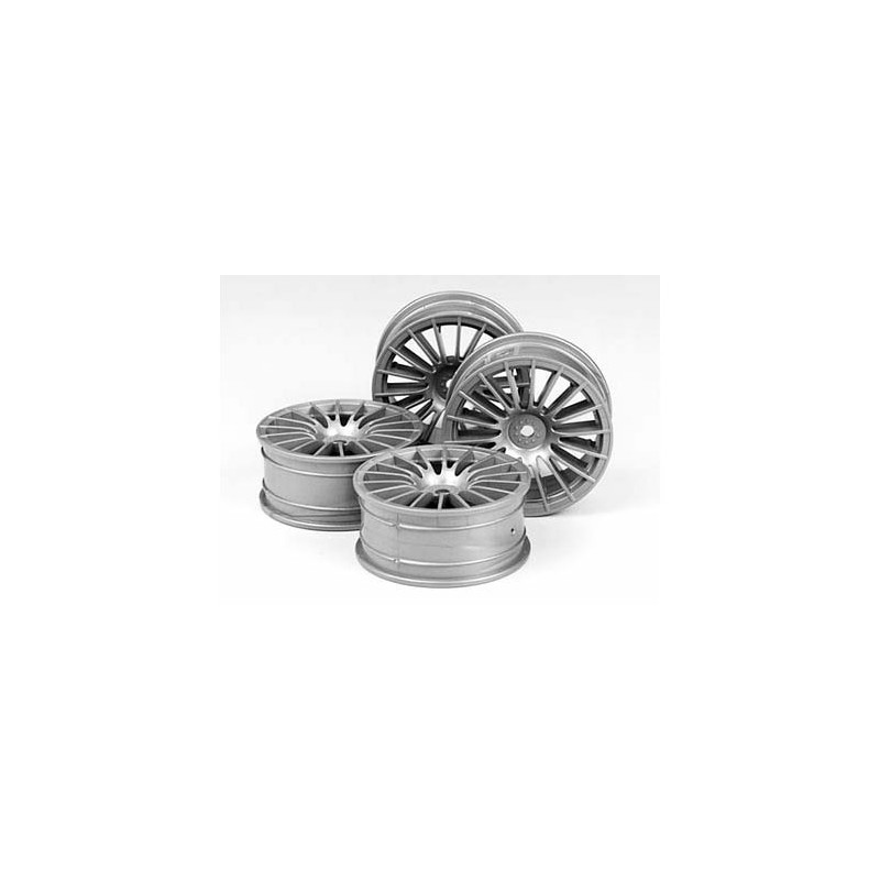 Tamiya 18-Spoke Wheels (Silver, 4 pcs) 24mm