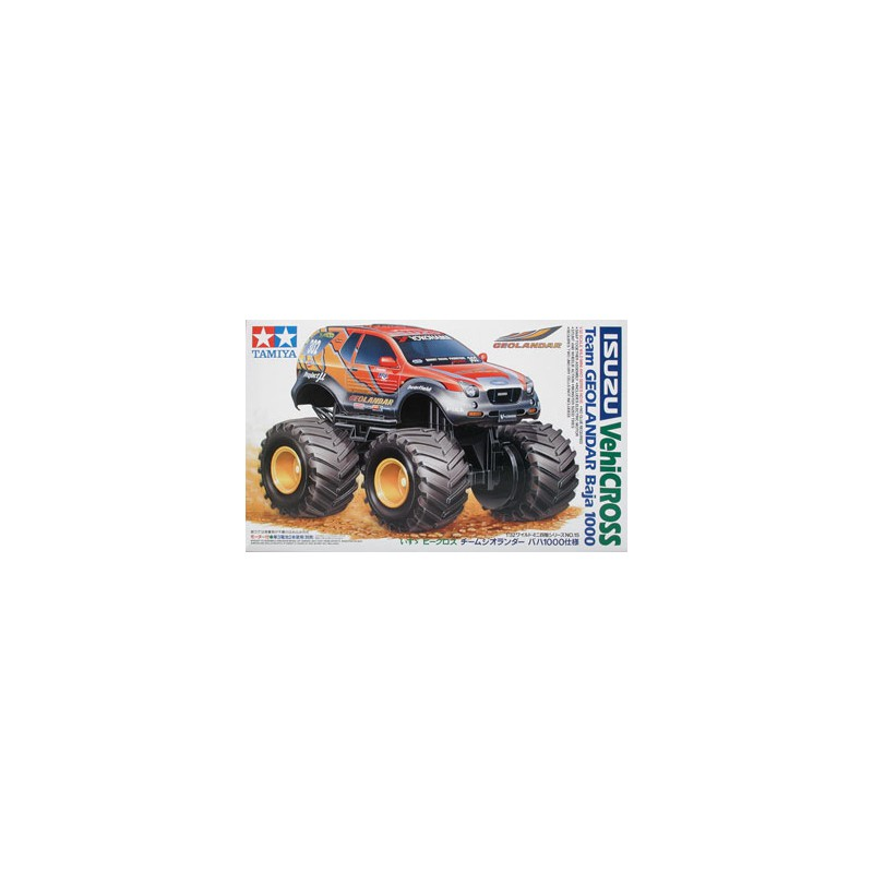 Tamiya 1/32 Mini 4WD Isuzu VehiCross Team Geolander Baja 1000