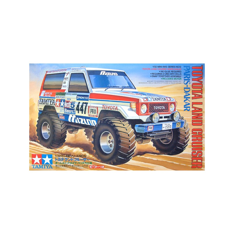 Tamiya 1/32 Mini 4WD Toyota Land Cruiser '90 Paris-Dakar