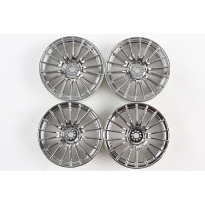 Tamiya 18-Spoke Wheels (Chrome, 4 pcs) 24mm