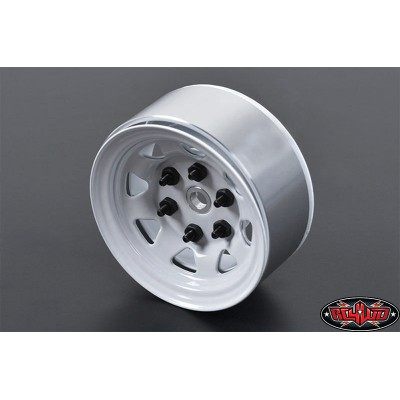 RC4WD Stamped Steel 1.55 Beadlock Wheel (White, 4 pcs)