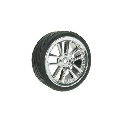3Racing 1/10 5 Dual Spoke Rim & Tyre Set (4 pcs)