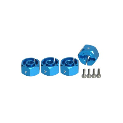 3Racing 12mm Wheel Adaptor (4 pcs, 7mm thick) for 1:10 Cars