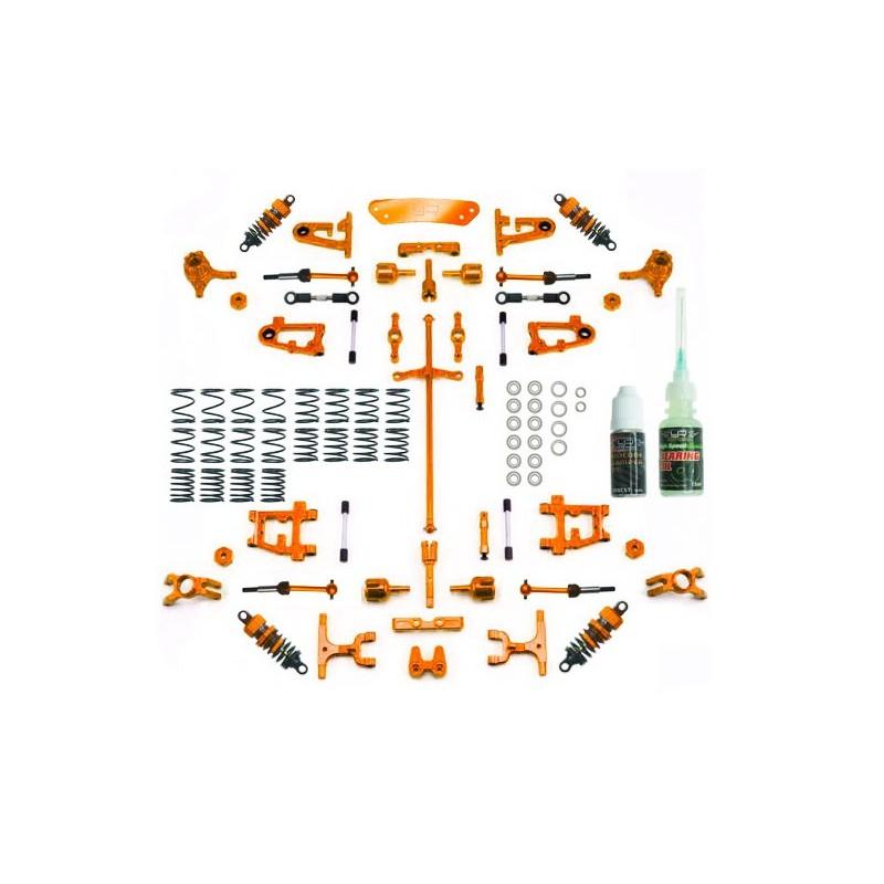 Yeah Racing Conversion Kit Ultimate Version (Orange) for Tamiya TT-01 / TT-01E