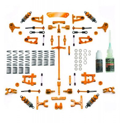 Yeah Racing Conversion Kit Ultimate Version (Orange) for Tamiya TT-01 / TT-01E