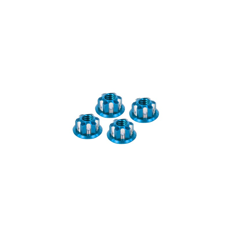 Eagle Racing SP Scale Wheel Nut 4mm (Type 1, Light Blue, 4 pcs)