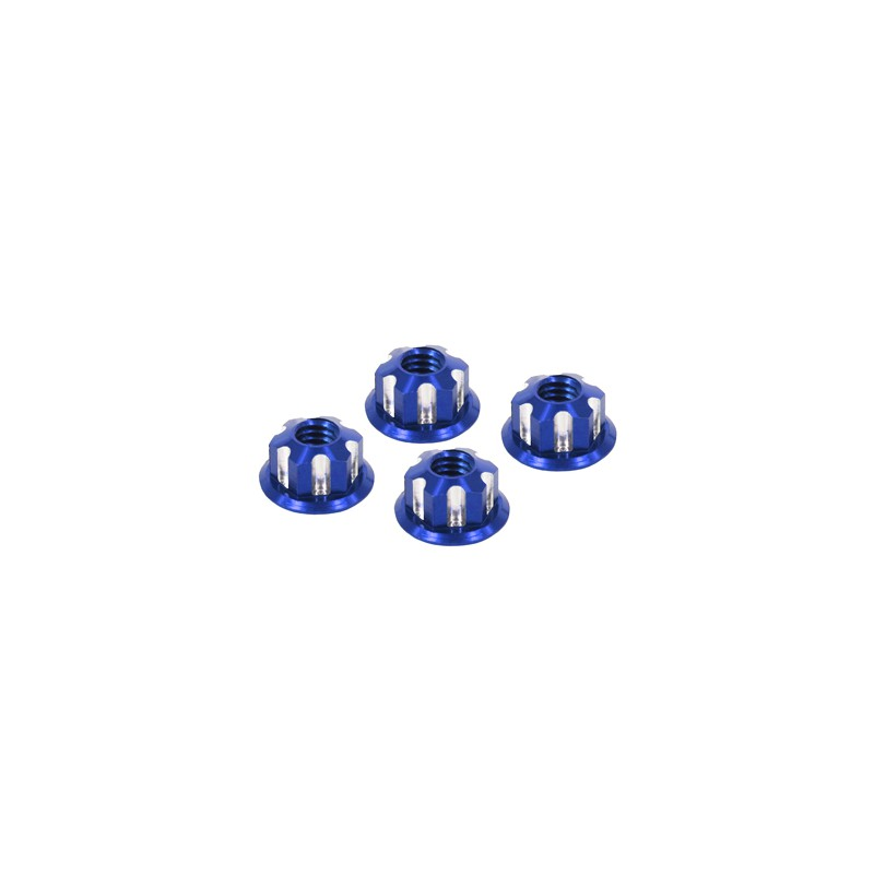 Eagle Racing SP Scale Wheel Nut 4mm (Type 2, Blue, 4 pcs)