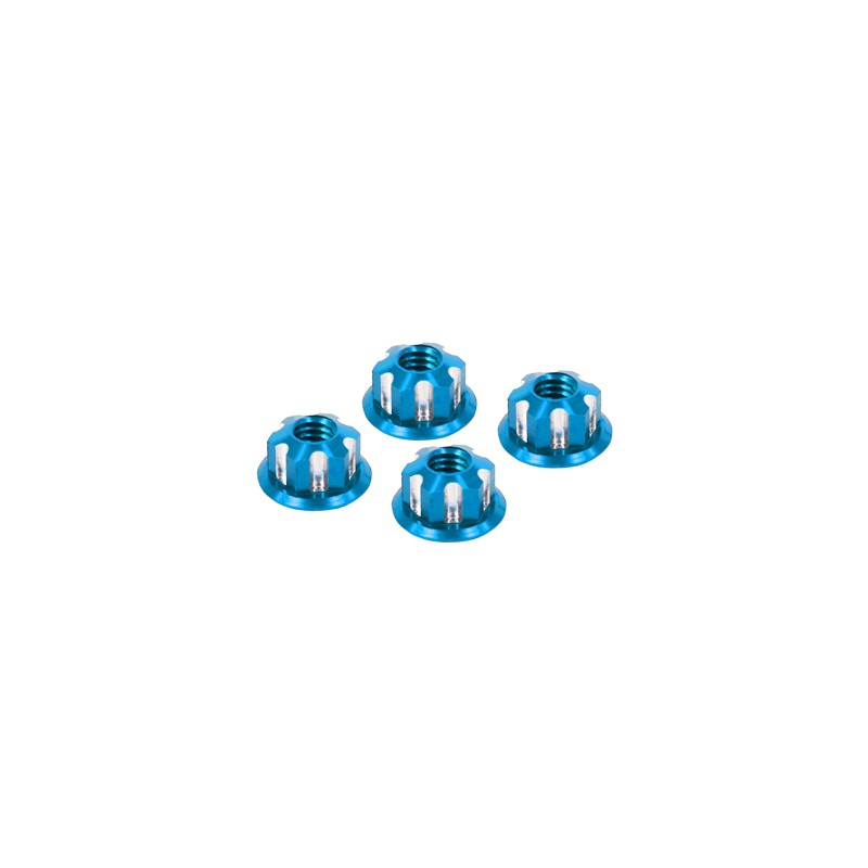 Eagle Racing SP Scale Wheel Nut 4mm (Type 2, Light Blue, 4 pcs)