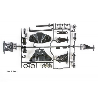 Tamiya B-parts for TT-02 (Sus. Arms, Body Mounts)