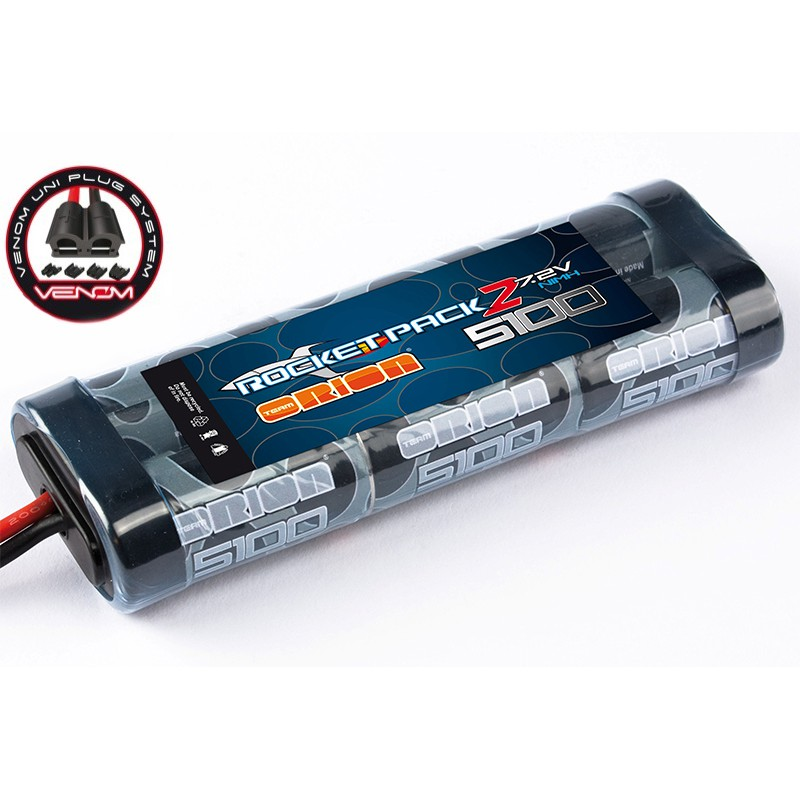 Team Orion Rocket Pack 2 NiMH 7.2V 5100mAh w/ Universal Plug