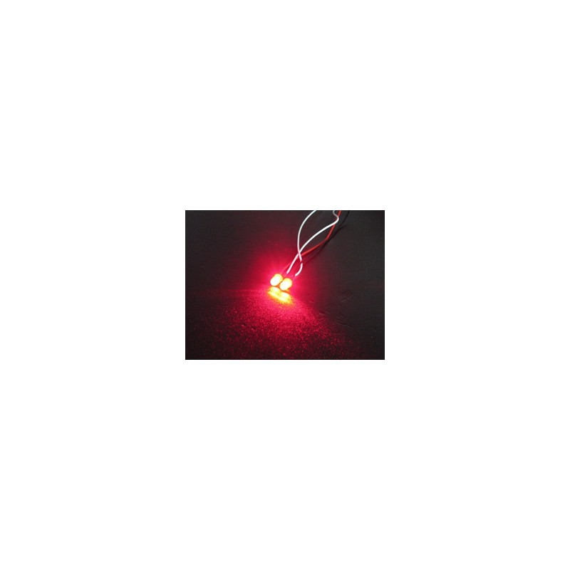 3Racing Flash LED Light - 5mm, Red