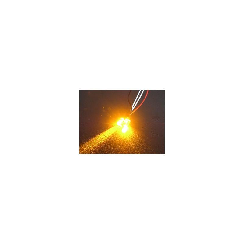 3Racing Normal LED Light - 3mm, Orange