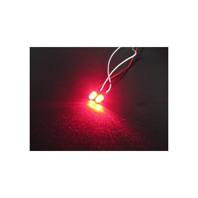 3Racing Normal LED Light - 3mm, Red