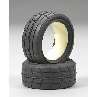 Tamiya Racing Radial Tires w/Inserts (2 pcs) 24mm